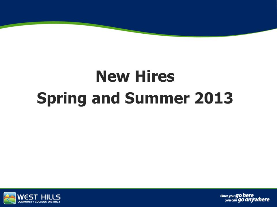 Capital Investments New Hires Spring and Summer 2013