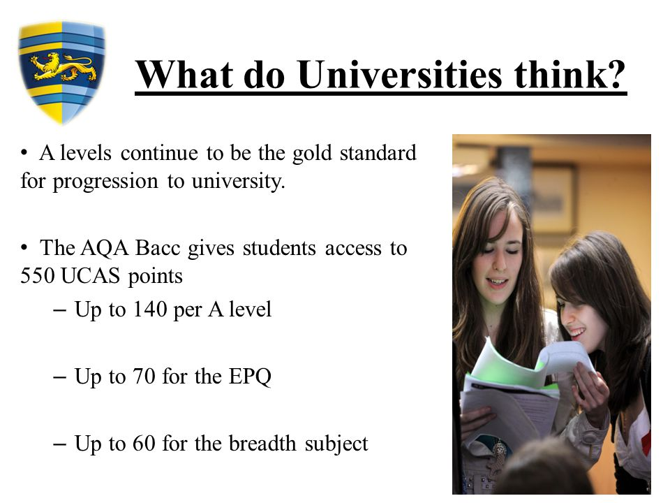 What do Universities think.
