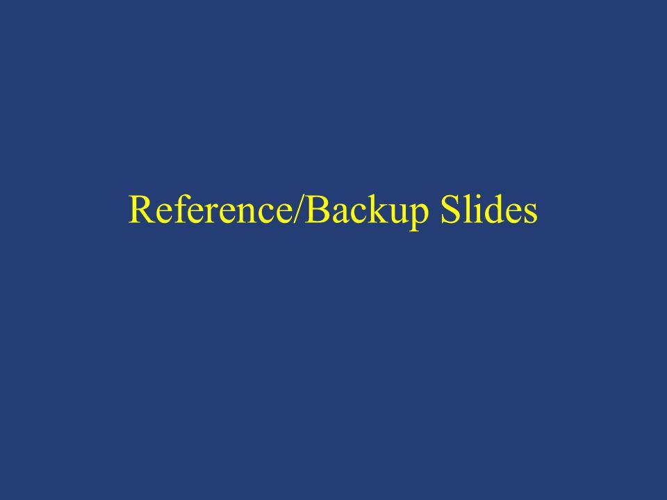 Reference/Backup Slides