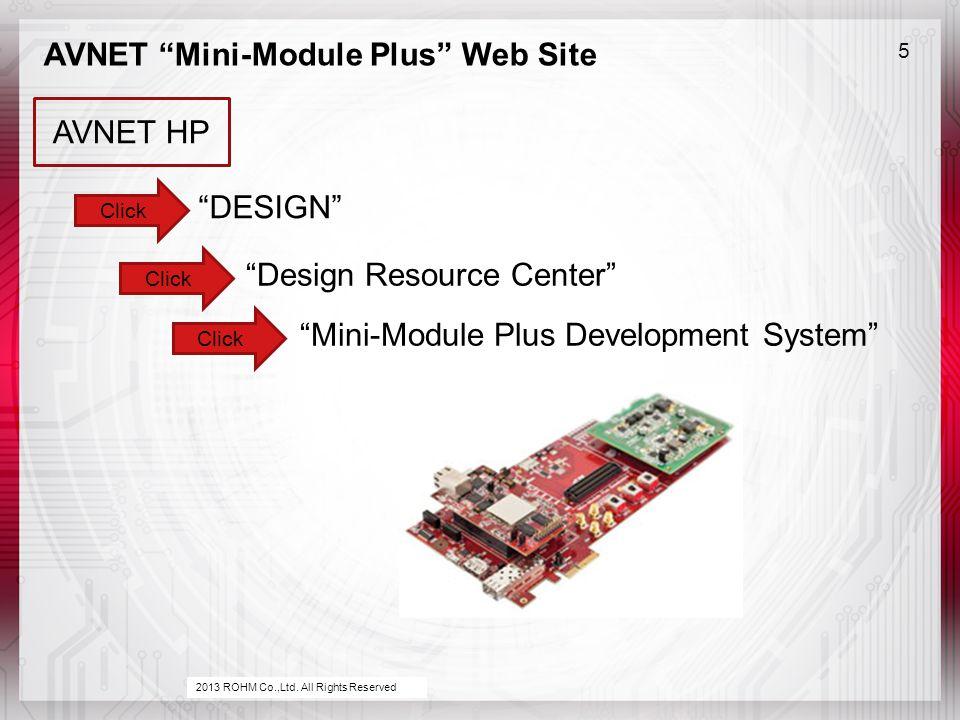 AVNET Mini-Module Plus Web Site 5 2013 ROHM Co.,Ltd.