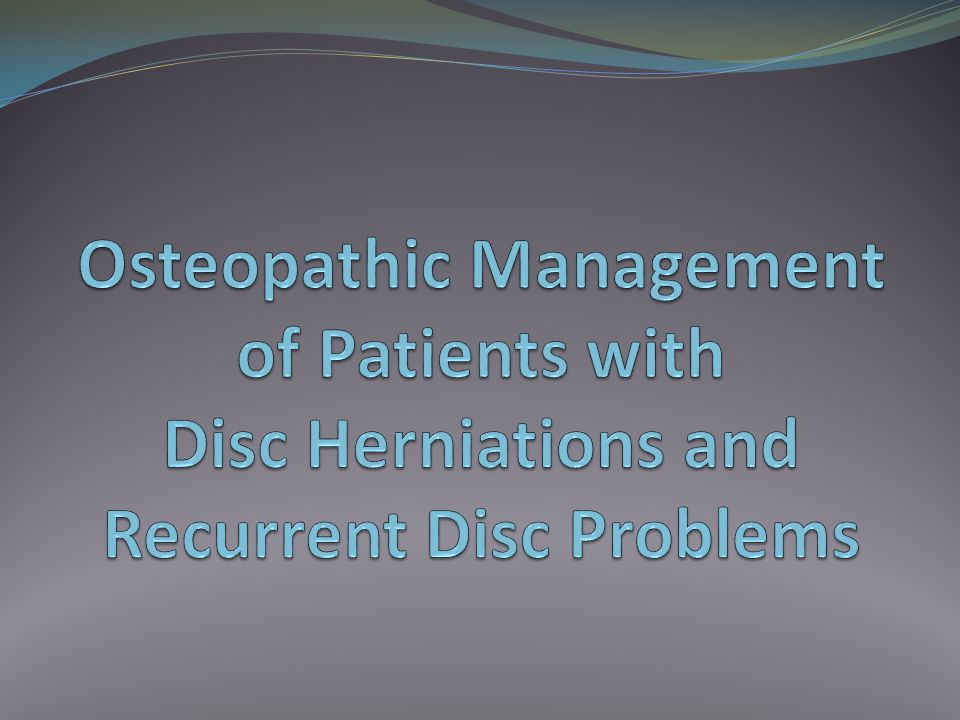 Disc Disorders Traumatic disc herniation can occur.