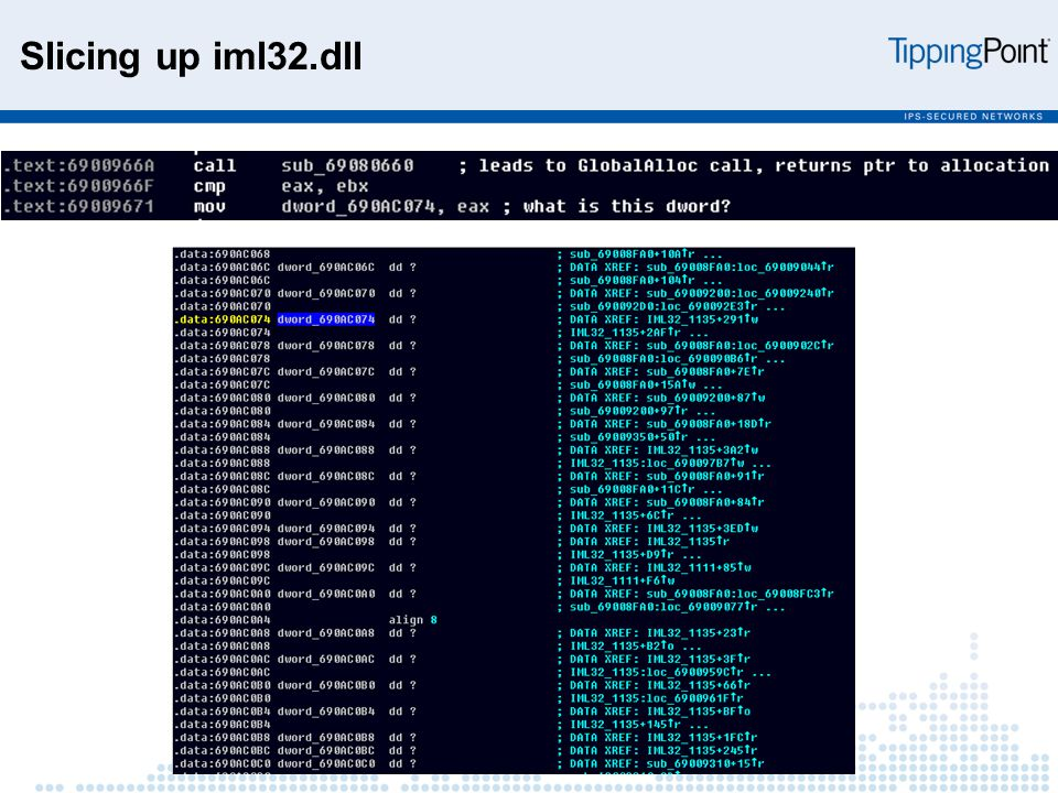 Slicing up iml32.dll