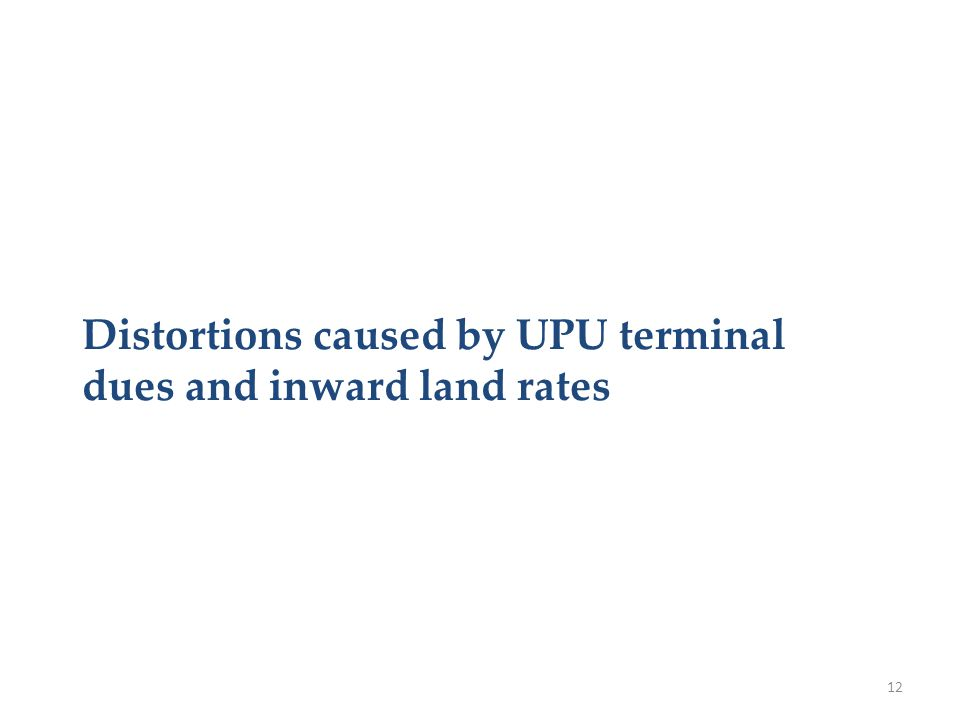 Distortions caused by UPU terminal dues and inward land rates 12