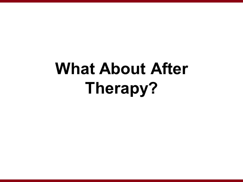 What About After Therapy