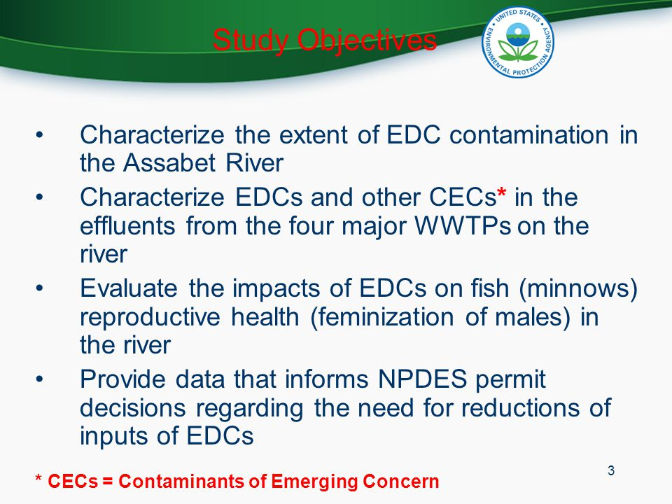 Proposed Year 2 Research Under consideration: –Sampling river water for EDCs –Deploying SPMDs (semipermeable membrane device) in river for EDCs (VOCs) –Flow through systems located at WWTPs for effluent exposure –Repeat collection of indigenous minnows (golden shiners) Vitellogenin Histopathology 24