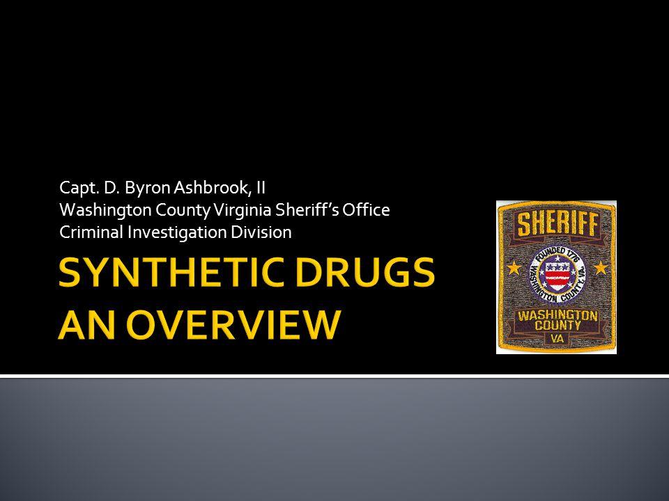 Capt. D. Byron Ashbrook, II Washington County Virginia Sheriff's Office Criminal Investigation Division