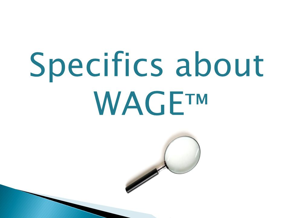 Specifics about WAGE ™