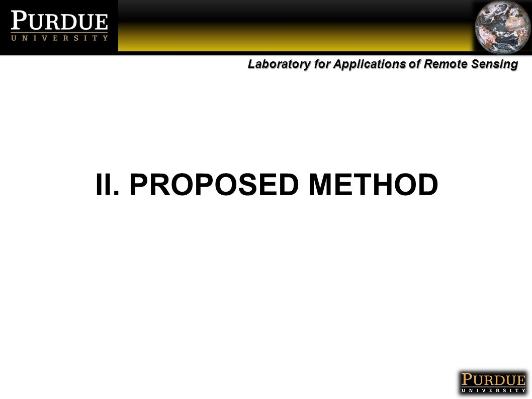 Laboratory for Applications of Remote Sensing II. PROPOSED METHOD