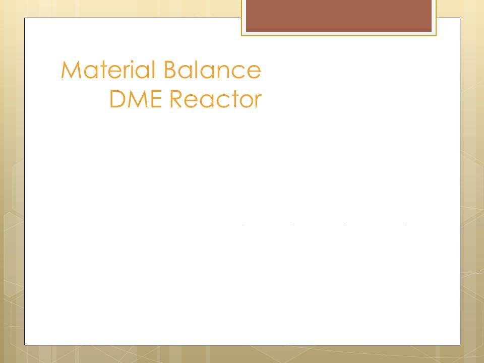 Material Balance DME Reactor