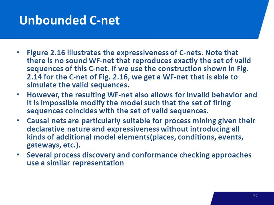 Unbounded C-net Figure 2.16 illustrates the expressiveness of C-nets.
