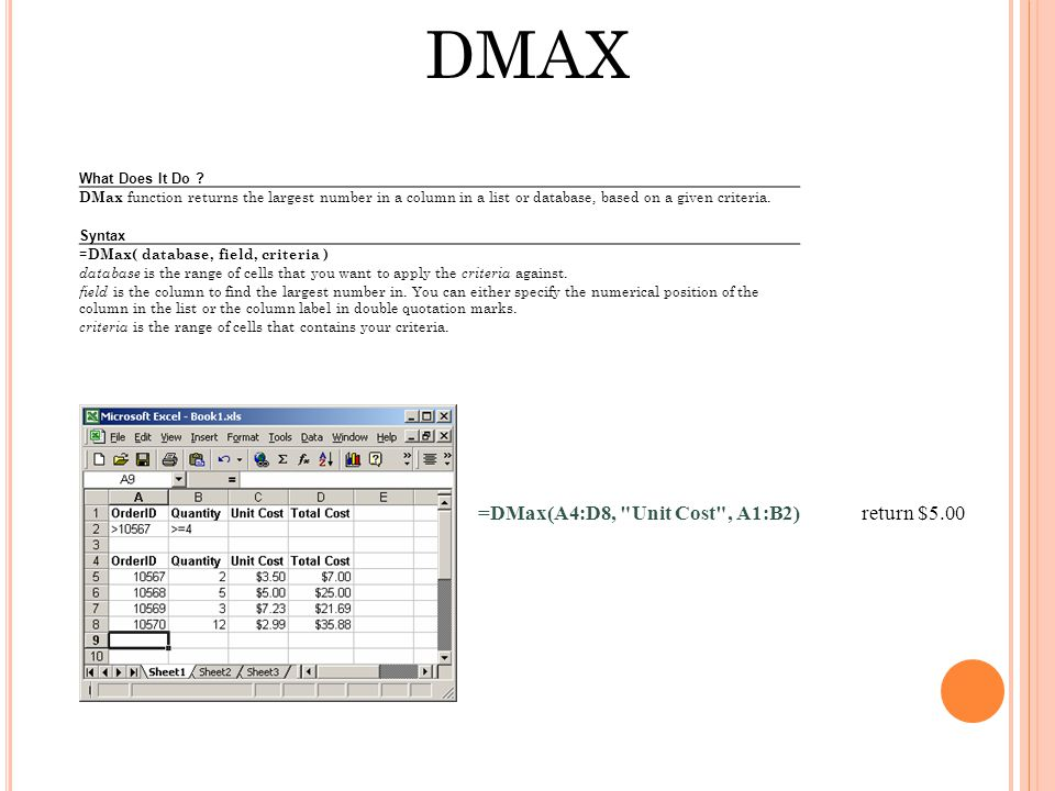 DMAX What Does It Do .