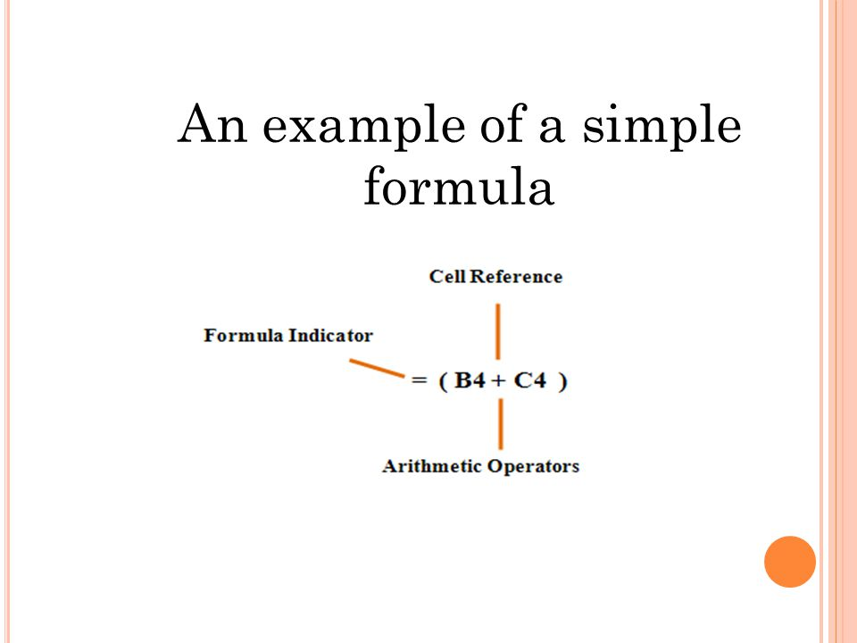 An example of a simple formula