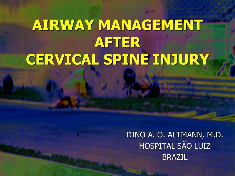 PHARYNGEAL – TRACHEAL LUMEN AIRWAY PTL Airway management after cervical spine injury