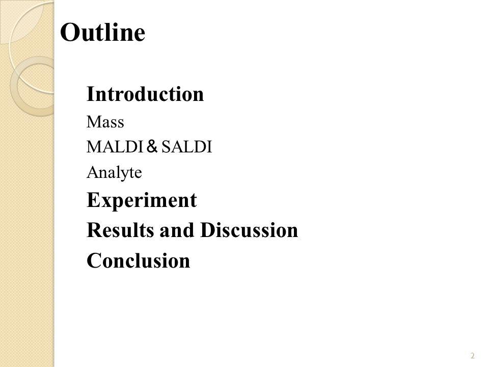 Introduction 離子源 離子偵測器 ESI LDI EI CI quadrupole time-of-flight ion trap 將自質量分析器飛出 之離子,激發電子產 生並放大訊號 Mass Spectrometry Introduction 3 MALDI 質量分析器