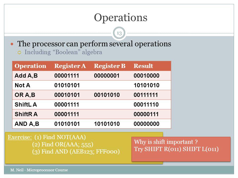 Operations M.