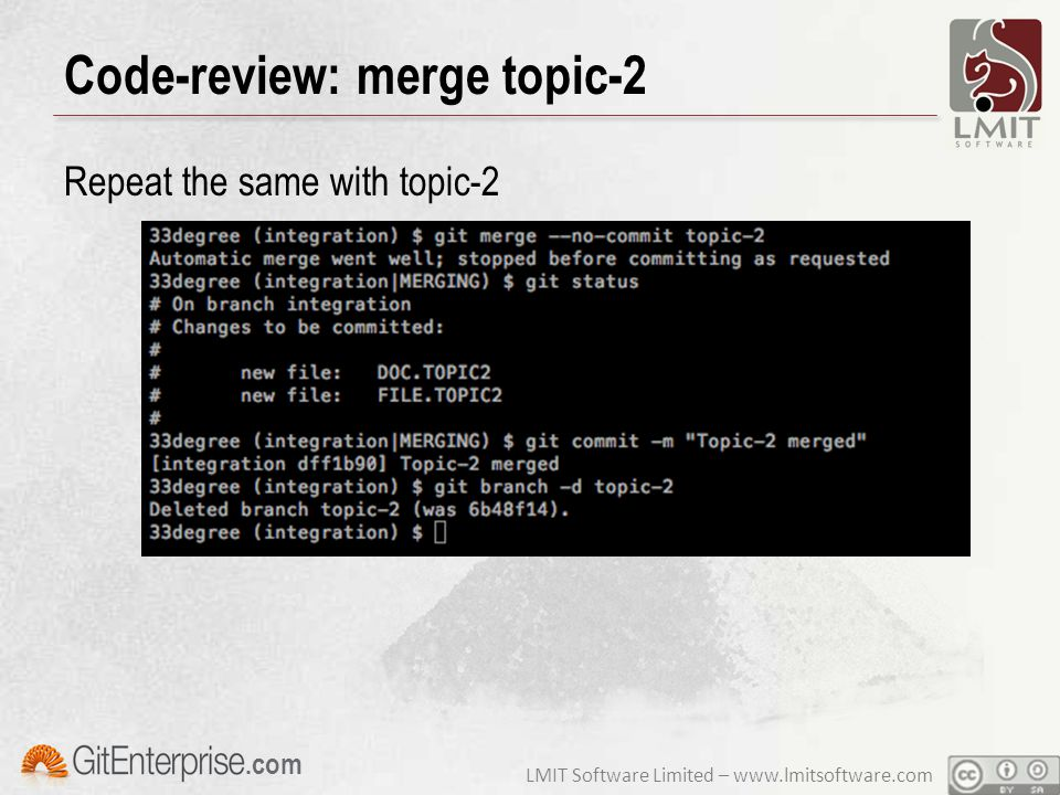 LMIT Software Limited – www.lmitsoftware.com.com Code-review: merge topic-2 Repeat the same with topic-2