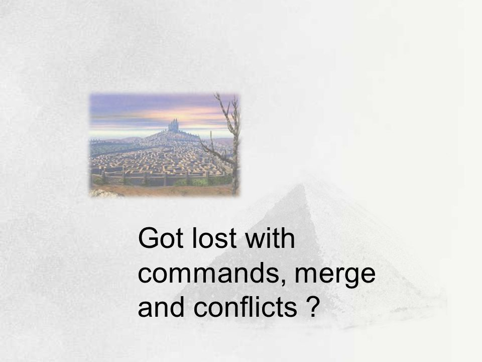Got lost with commands, merge and conflicts