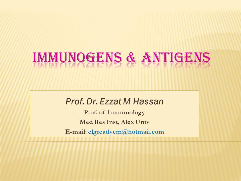 Prof.Dr. Ezzat M Hassan Prof.