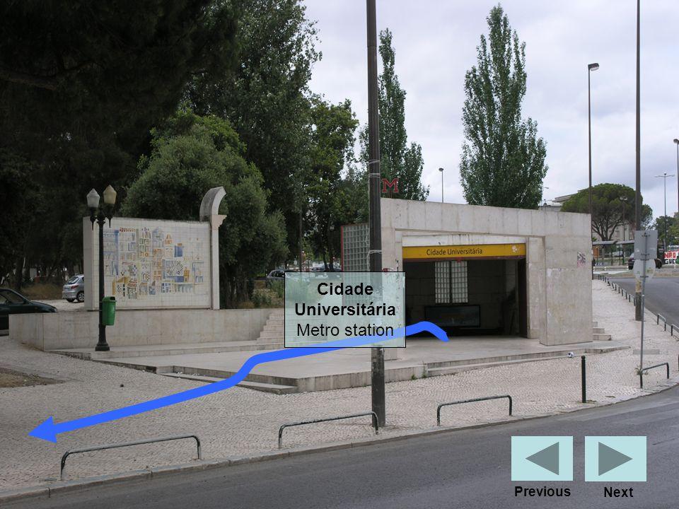 Cidade Universitária Metro station Next Previous