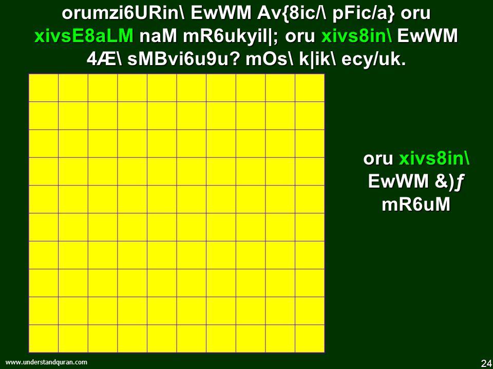 23 www.understandquran.com !)) karYN] niN] pFic/a}, 4Æ\ sMBvi6u9uev9Riya[ mOs\ k|ik\ ecy/uk.