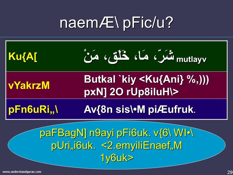"""28 www.understandquran.com Ku{A[ pFi6u9ti9ayi 2t\ nf""""a6a[..."""