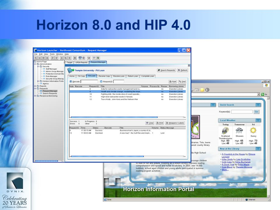 Horizon 8.0 and HIP 4.0
