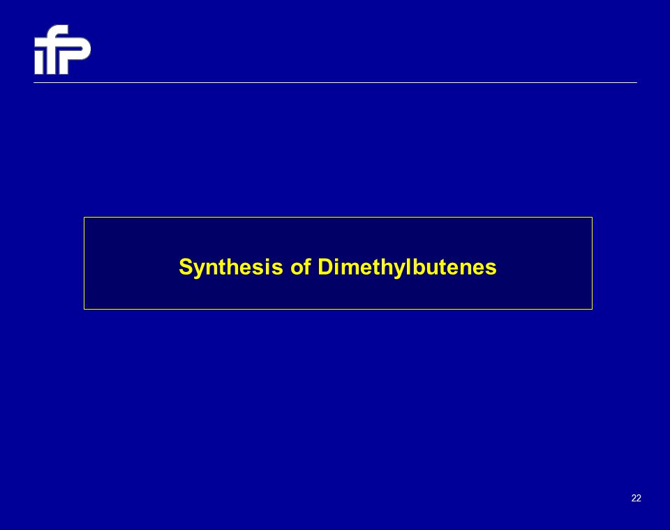 22 Synthesis of Dimethylbutenes