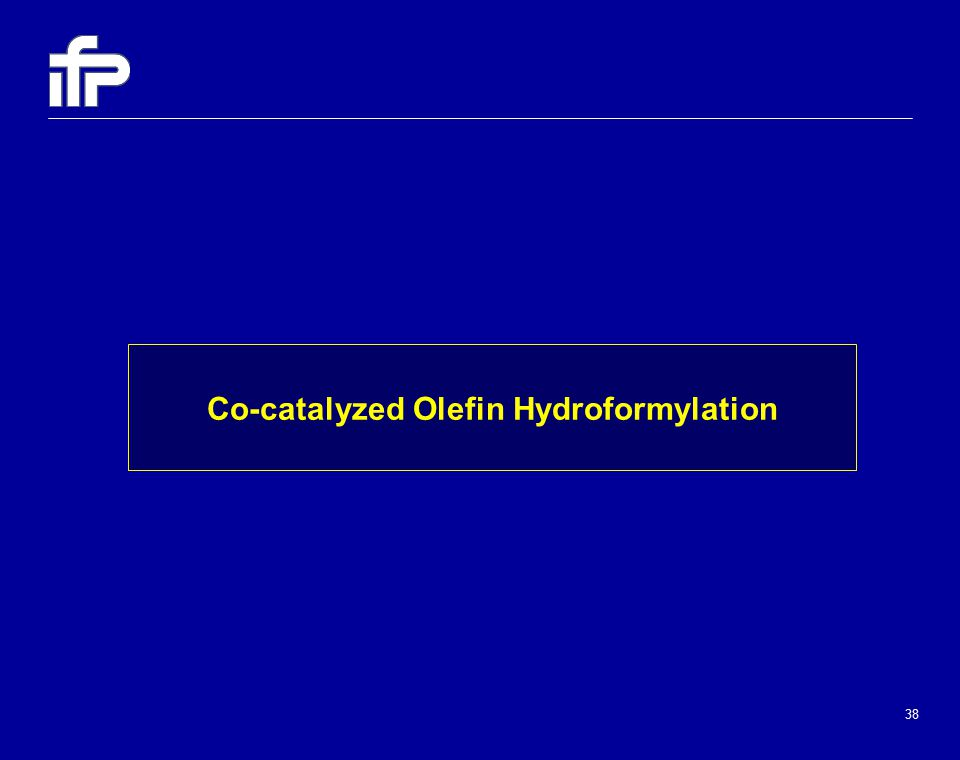 38 Co-catalyzed Olefin Hydroformylation