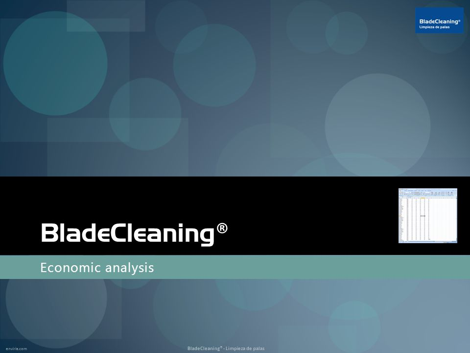 enviria.com BladeCleaning® - Limpieza de palas BladeCleaning ® Economic analysis