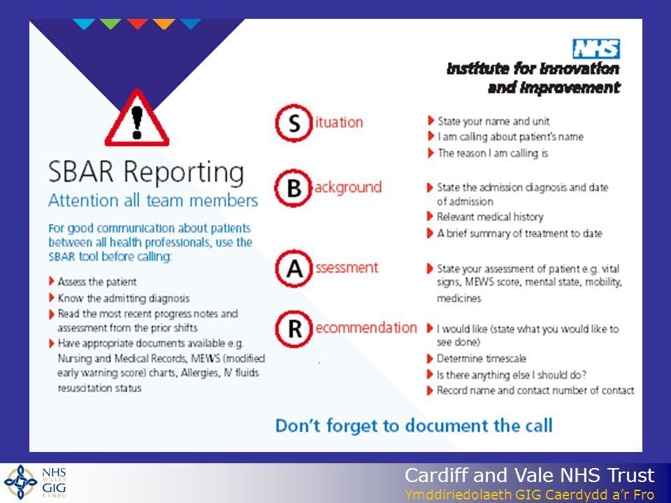 Cardiff and Vale NHS Trust Ymddiriedolaeth GIG Caerdydd a'r Fro