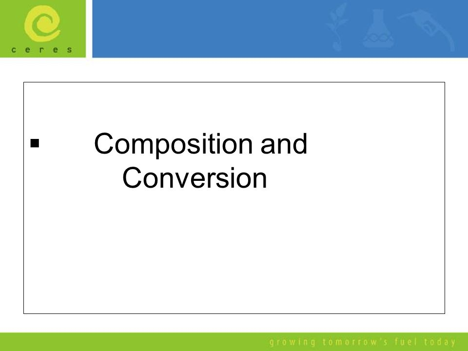  Composition and Conversion