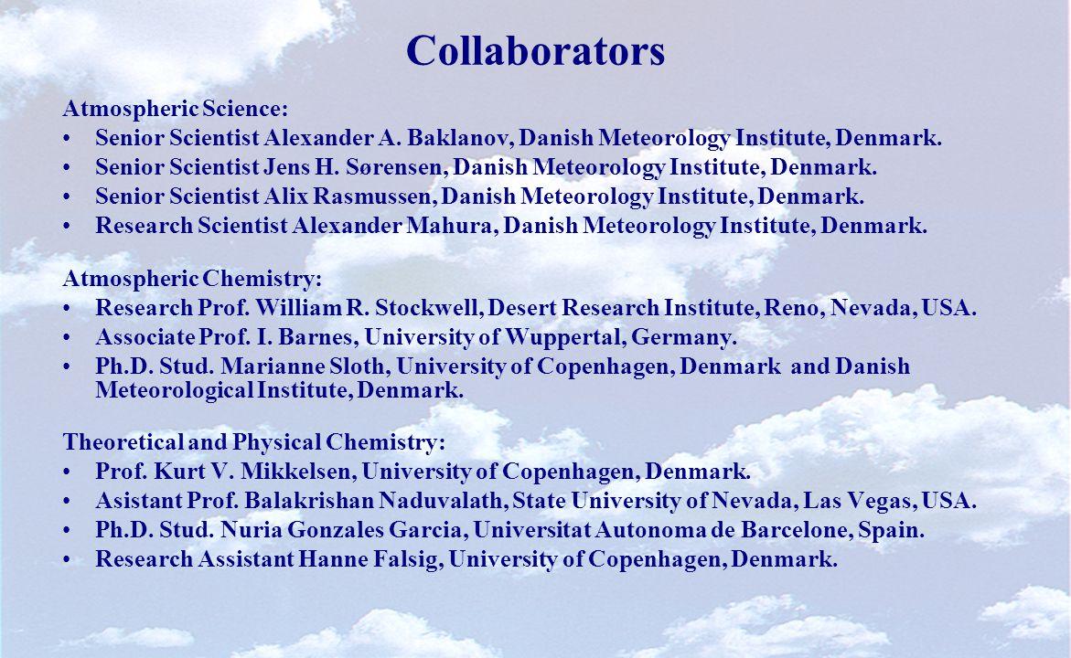 Collaborators Atmospheric Science: Senior Scientist Alexander A.