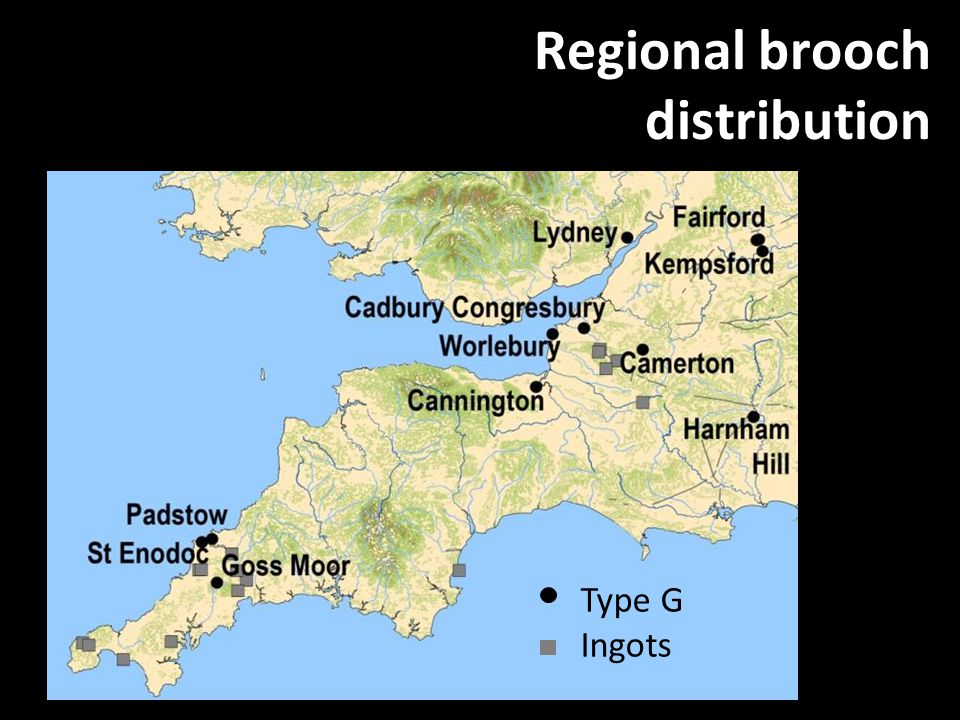 Regional brooch distribution Type G Ingots