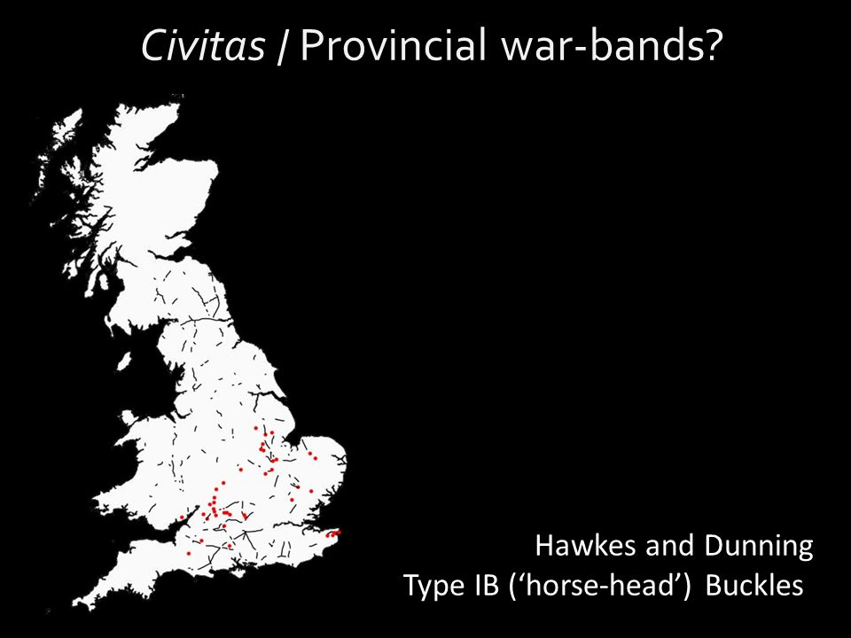 Civitas / Provincial war-bands Hawkes and Dunning Type IB ('horse-head') Buckles