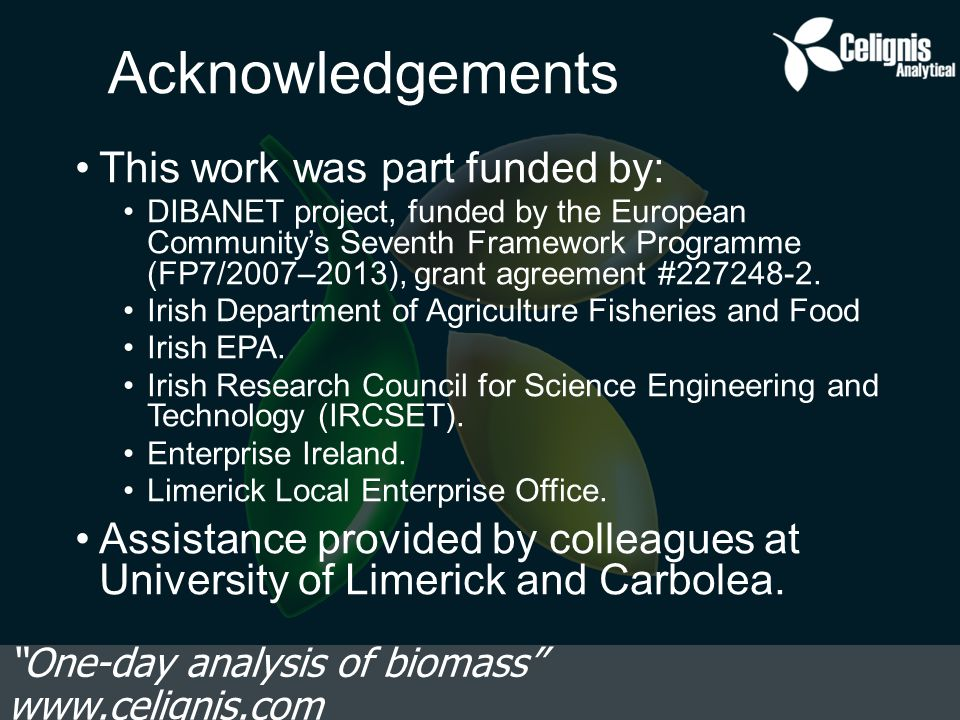 Acknowledgements This work was part funded by: DIBANET project, funded by the European Community's Seventh Framework Programme (FP7/2007–2013), grant agreement #227248-2.