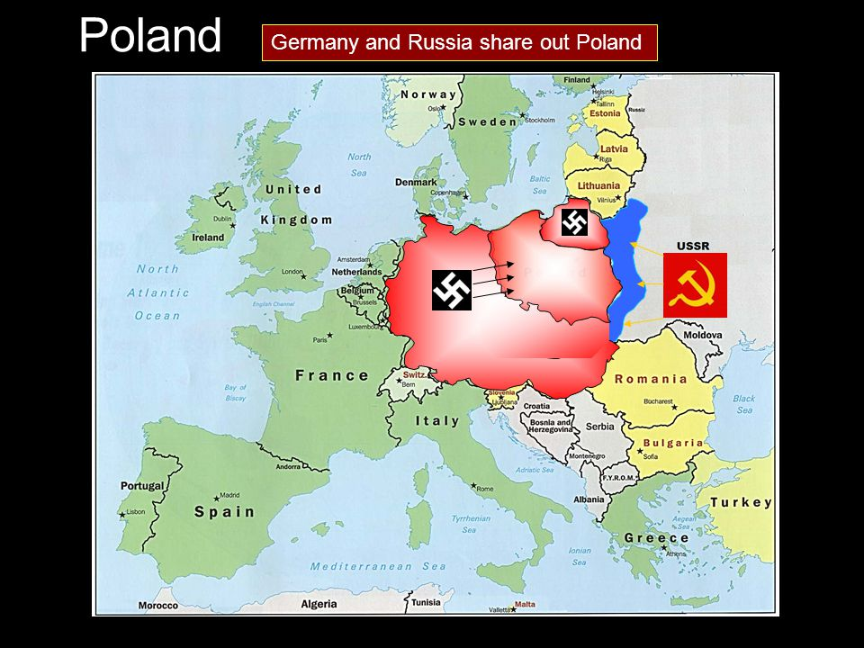 Germany and Russia share out Poland