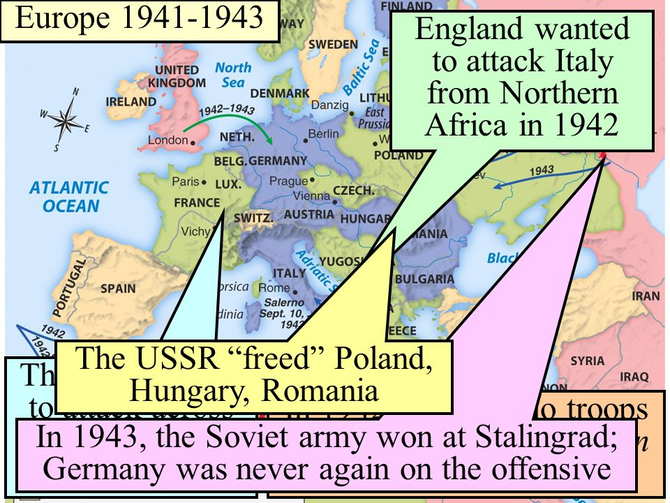 Europe 1941-1943 To win the European campaign, 2 different plans were proposed The U.S.