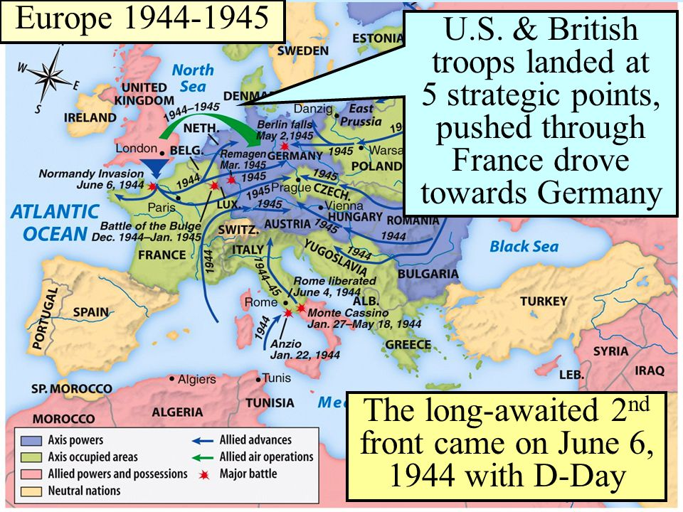 The long-awaited 2 nd front came on June 6, 1944 with D-Day U.S.
