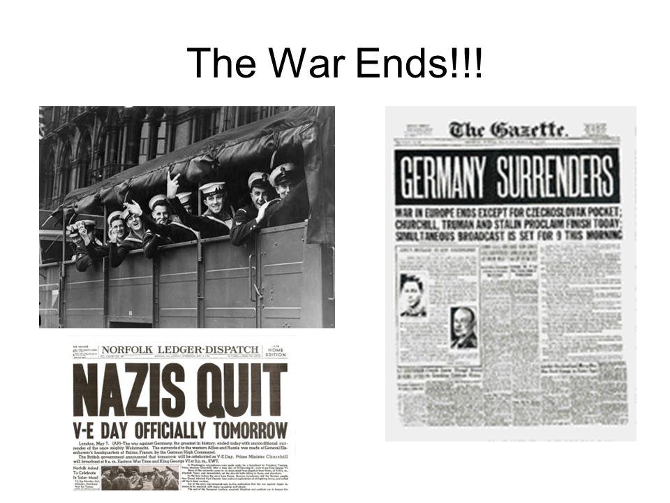 The War Ends!!!