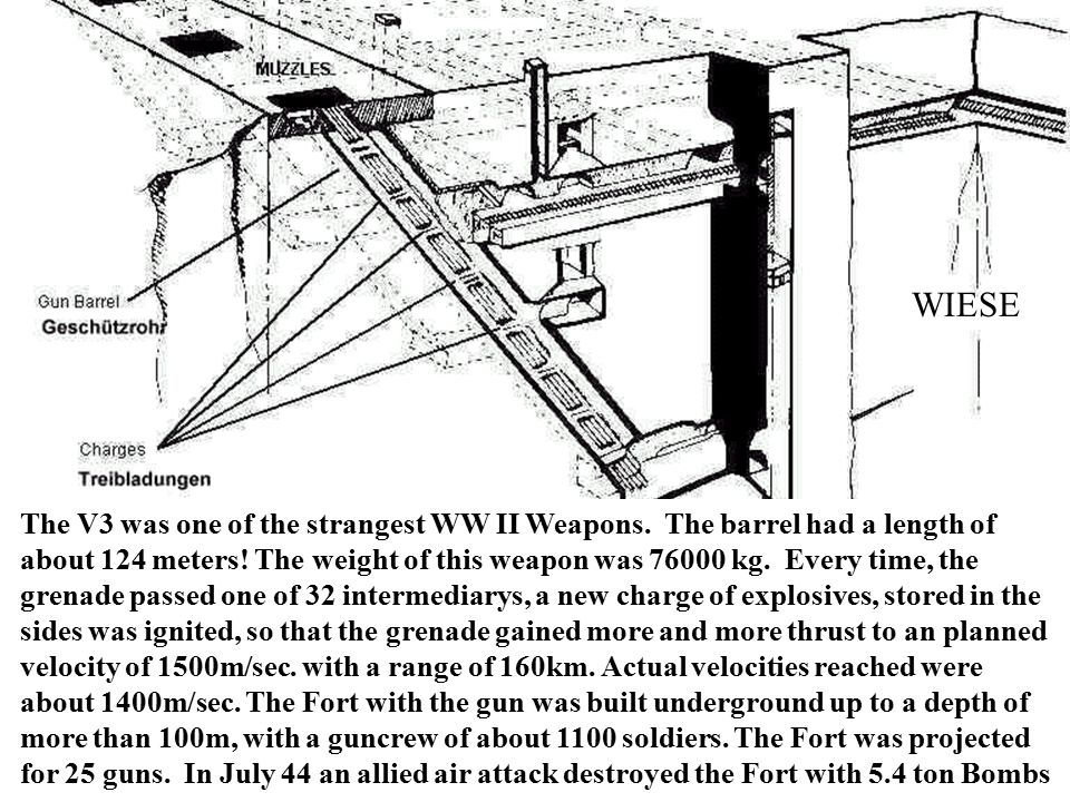 WIESE The V3 was one of the strangest WW II Weapons.