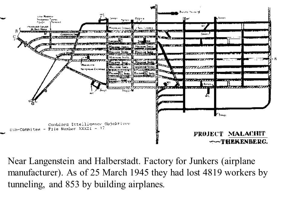 Near Langenstein and Halberstadt.Factory for Junkers (airplane manufacturer).
