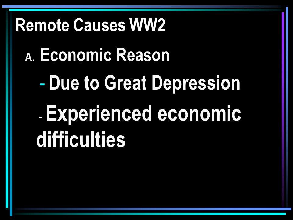 Remote Causes of WW2 B.