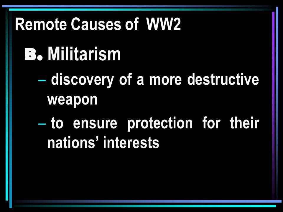 Remote Causes WW2 C.