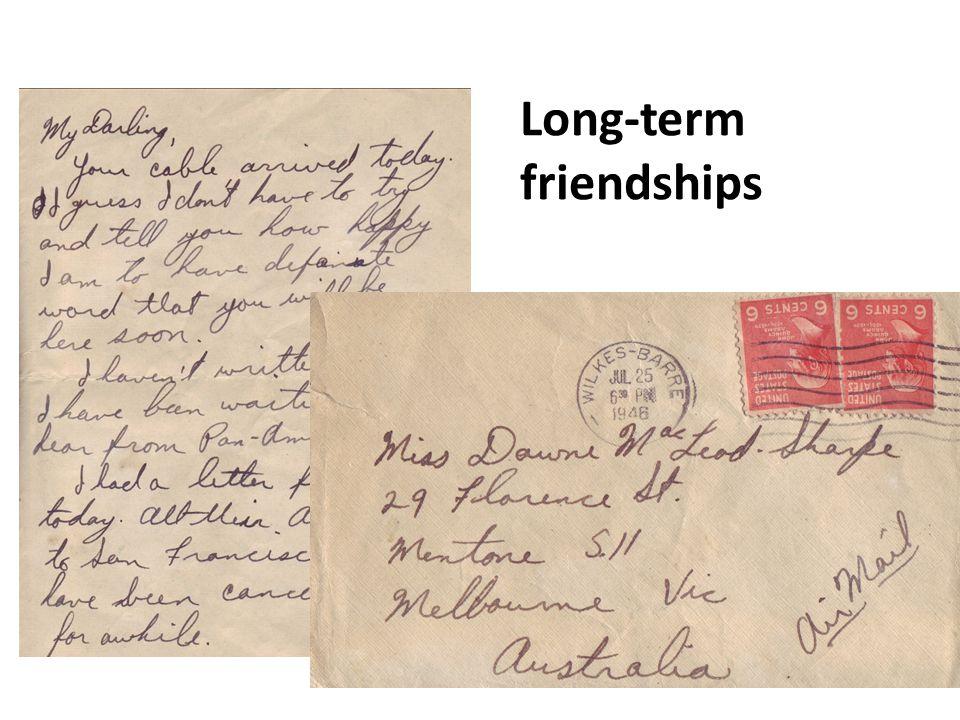 Long-term friendships