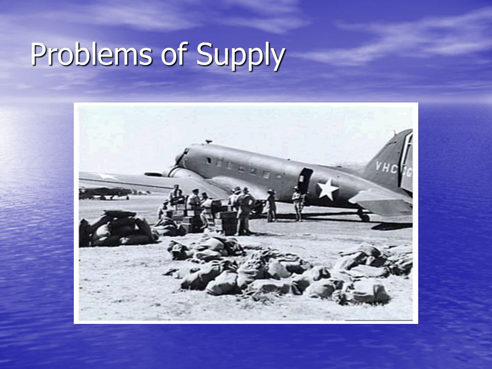 Problems of Supply