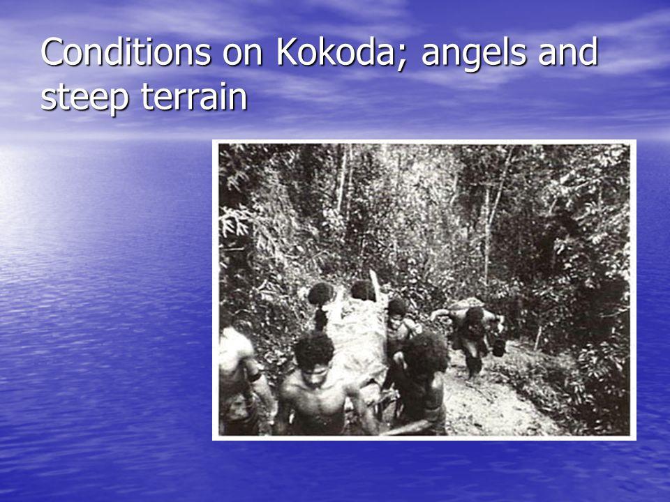 Conditions on Kokoda; angels and steep terrain
