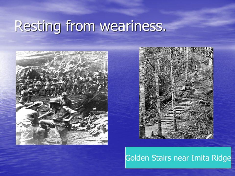 Resting from weariness. Golden Stairs near Imita Ridge