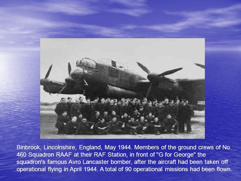 Binbrook, Lincolnshire, England, May 1944.