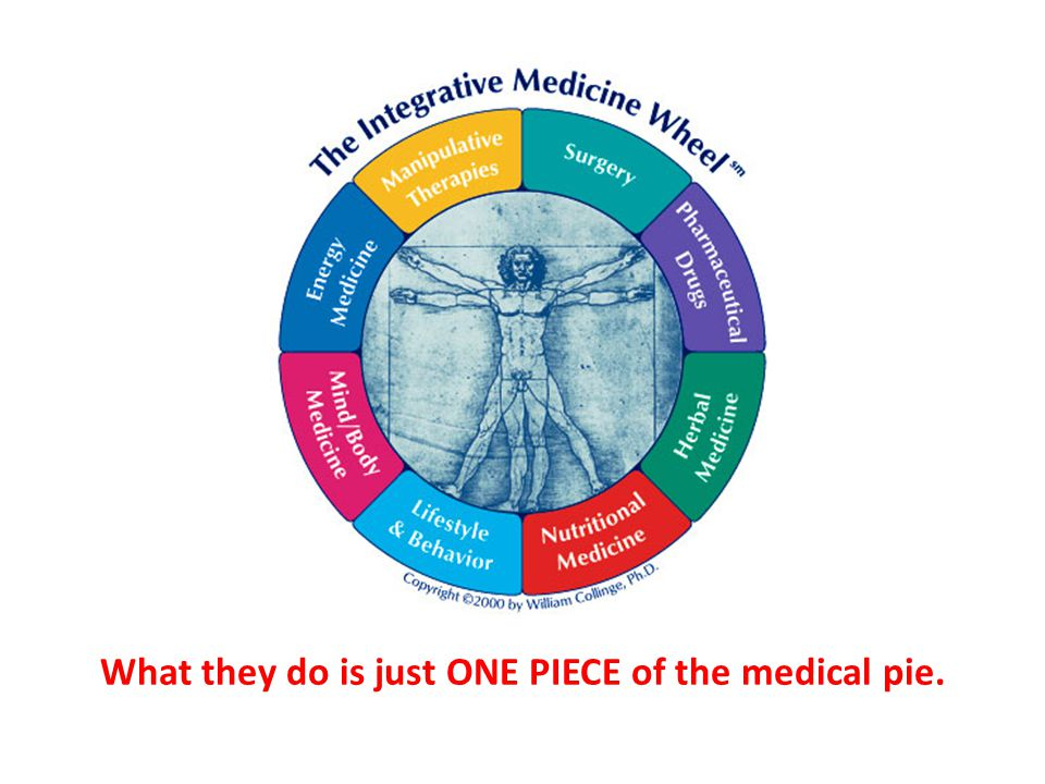 What they do is just ONE PIECE of the medical pie.