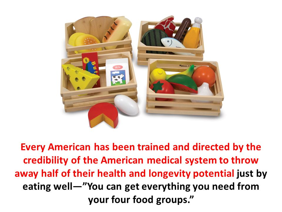 Every American has been trained and directed by the credibility of the American medical system to throw away half of their health and longevity potent
